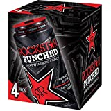 Rockstar Punched Energy Drink Fruit Punch, 4 Count, 0.22 L