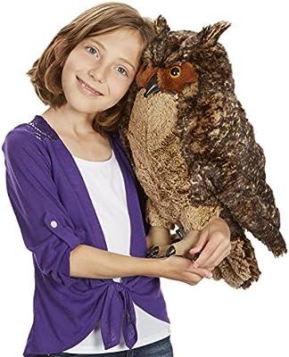 Amazon Com Melissa Doug Lifelike Plush Owl Stuffed Animal