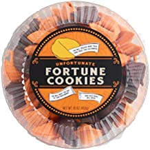 Halloween Unfortunate Fortune Cookies Pack of 50 in Orange and Black with Creepy Unfortunate Messages Inside