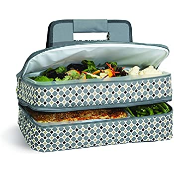 Amazon com: MIER Insulated Double Casserole Carrier Thermal