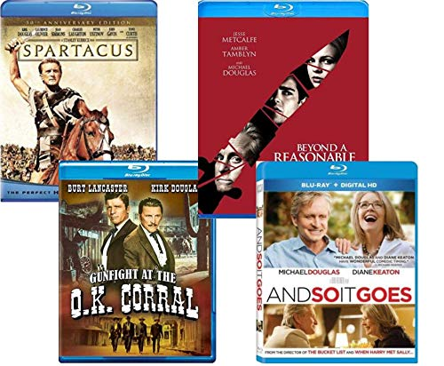 Michael & Kirk Douglas Collection - Spartacus 50th Anniversary edition/ Gunfight at the O.K. Corral/ Beyond A Reasonable Doubt/ And So It Goes [Blu ray + DVD]