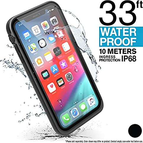- 51DeK9CzmAL - Catalyst iPhone Xs Max Waterproof Case with Lanyard, Shock Proof Drop Proof Military Grade Material for Hiking, Swimming, Adventure, Beach Trips, Kayaking, Cruise Ship Accessories- Stealth Black