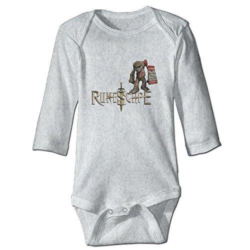 RuneScape Logo CGH Seven Baby Girl Boy Climb Romper Size12 Months Ash