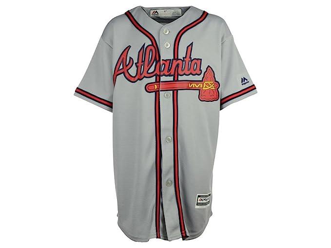 new arrival 1ee77 1eced Amazon.com: Majestic Youth/BIg Kid's Atlanta Braves Gray ...