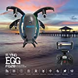 Inverlee Egg Shaped Wifi FPV Drone FQ777 FQ28 6-Axis Gyro 2.0MP Camera Quadcopter,Great Xmas Gift (Black)
