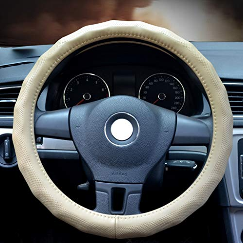 Ping Bu Qing Yun Steering Wheel Cover - Universal Handle Steering Wheel Cover Solid Color Suitable for Diameter 38 cm Pinhole Design Non-Slip Breathable Car Steering Wheel Cover