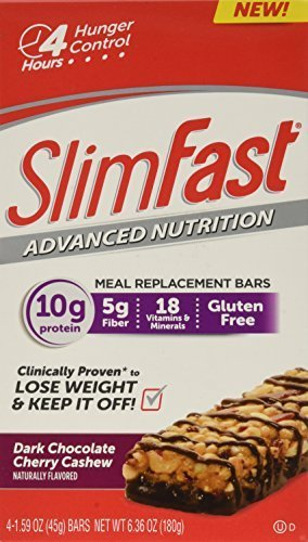 Slim-Fast-Advanced-Nutrition-Meal-Replacement-Bar-Chocolate-Cherry-Cashew-4-Count-by-Slim-Fast