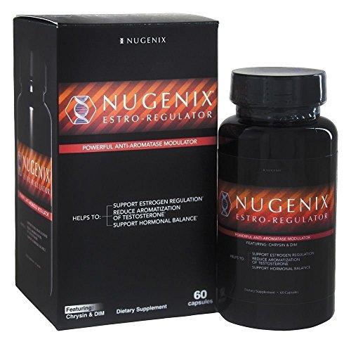 Nugenix Estro-Regulator - Power Estrogen Blocker, Boost Testosterone, Aromatase Inhibitor, DIM, Chrysin - 60 Capsules