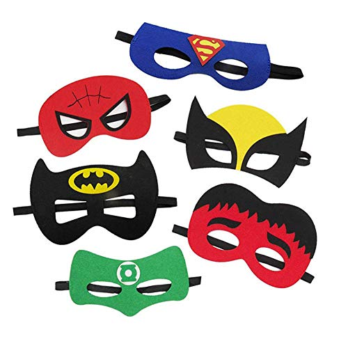 24 Piece Superheroes Dress-up Party Masks for Children Halloween Birthday Gift