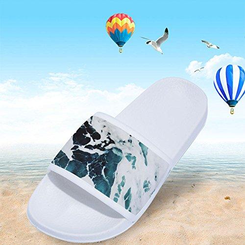 Secado rápido Impermeables de Mujer Zapatillas Antideslizantes para Verano Blanco de ZanaWXY