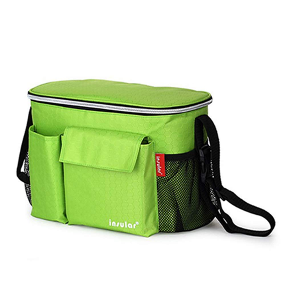 QIQI Mummy Bag, Waterproof and Insulated Stroller Bag, Stroller Bag, Stroller Bag,Green