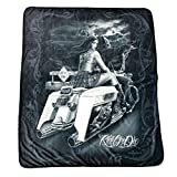 DGA Ride Or Die Dead End High Defenition Super Soft Plush Polar Fleece Blanket 50x60 Inches
