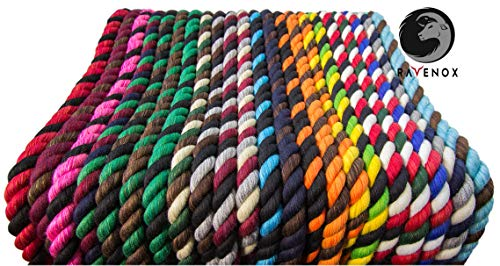 Ravenox Colorful Twisted Cotton Rope   (White)(1 Inch x 250 Feet)   Made in The USA   Custom Color Cordage for Sports, Décor, Pet Toys, Crafts, Macramé & General Use   Rope by The Foot & Diameter by Ravenox (Image #7)