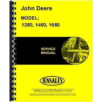 amazon com new john deere 1250 tractor service manual includes 2 rh amazon com 2002 John Deere 4210 John Deere 4410