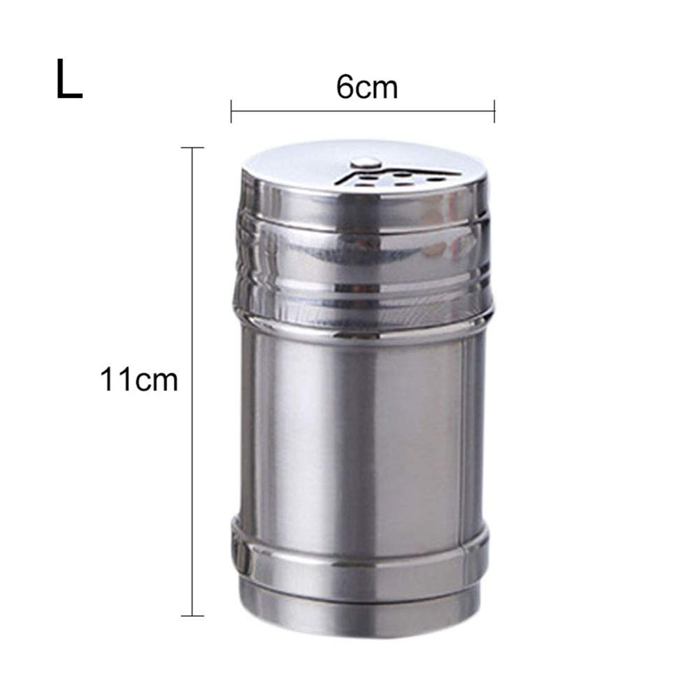 Onetek Stainless Steel with Three Mouth Spice Jar Toothpick Holder Barbecue Pepper Spice Jar S