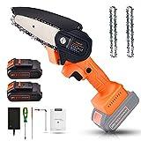 Mini Chainsaw Cordless 20V 2pcs Batteries, GOXAWEE