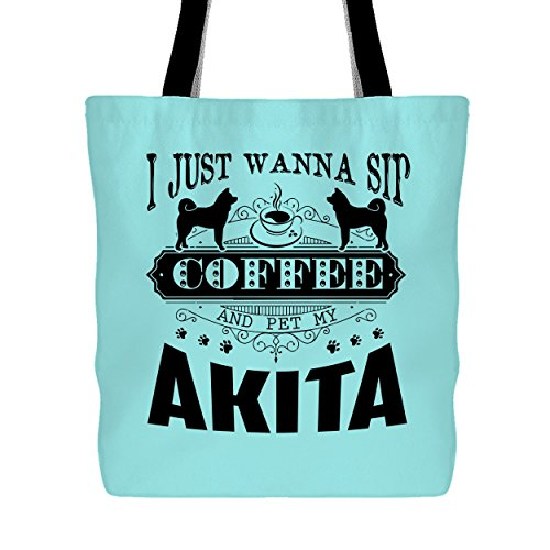 y Akita Tote Bag, Handbags For Women (Light Green Tote Bag) ()
