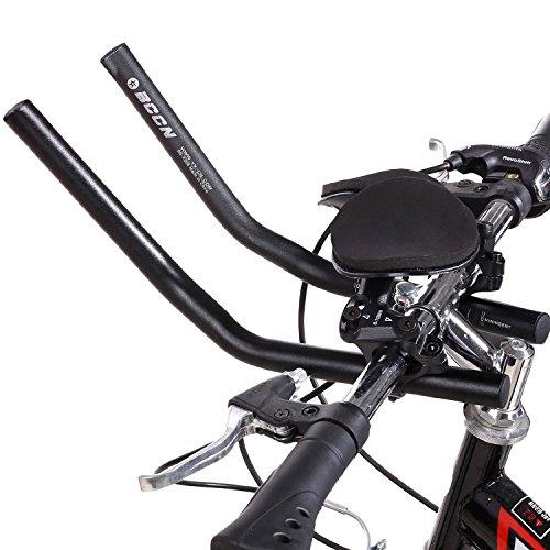 Wisamic Lenkeraufsatz Triathlon Lenker Aluminium Entspannung Rest Bar Fahrrad MTB