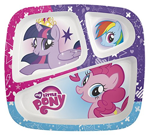 (Zak Designs My Little Pony 3-section Kids Plate, TV Series )