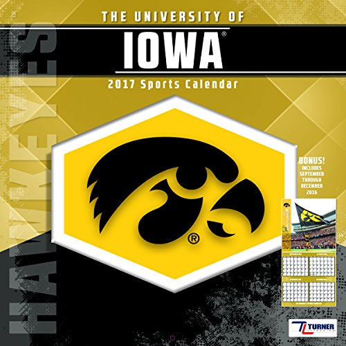 "Turner Licensing Sport 2017 Iowa Hawkeyes Team Wall Calendar, 12""X12"" (17998011832)"