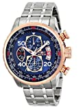 Invicta NEW Men's 17203 ''AVIATOR'' Stainless Steel and 18k Rose Gold Ion-Plated Casual Watch