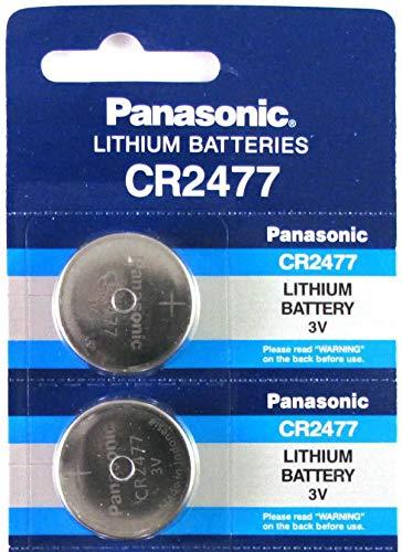 Panasonic CR2477 3V Lithium Cell Battery (Pack of 2)