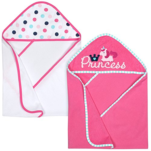 Gerber 2-Piece Hooded Bath Towel, Princess, 26