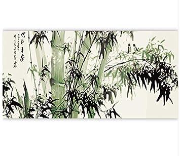 Rahmen Bambus Diy Malen Nach Zahlen Moderne Wandkunst Chinesischen