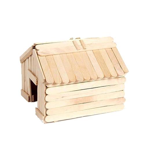 Popsicle Stick Log Cabin