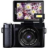 デジカメ デジタルカメラ ビデオブログカメラ フルHD1080p 24.0MP カムコーダー 3.0インチ反転スクリーン 伸縮フラッシュライト内蔵カメラ