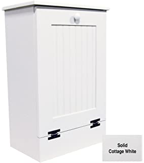 Tilt Out Wooden Trash Cabinet (Solid   Cottage White)