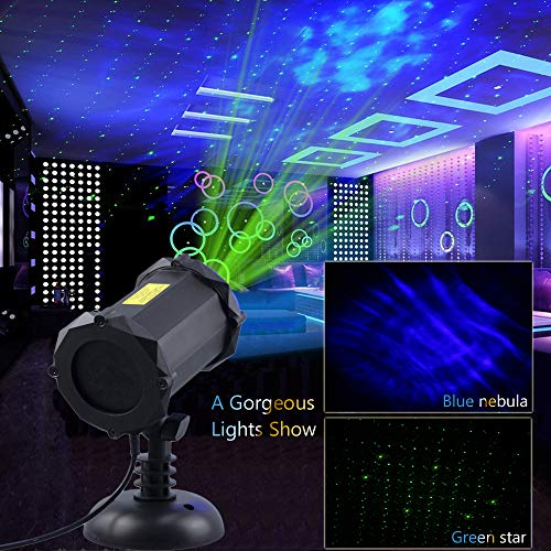 Poeland Star Laser Projector Light with LED Blue Nebula Starlight Suitable for Bedroom Decoration, Family Party, KTV, Dance Halls, Clubs, Bars, Kids Party, Dance Floor by Poeland (Image #2)