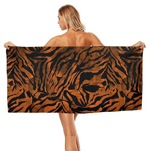 ZHIDAONNU Unisex Women's Zebra Gradient Tie Dye Colorful Camouflage White Design Soft Multipurpose Easy to Clean Sport Beach Bath Towel 31.5