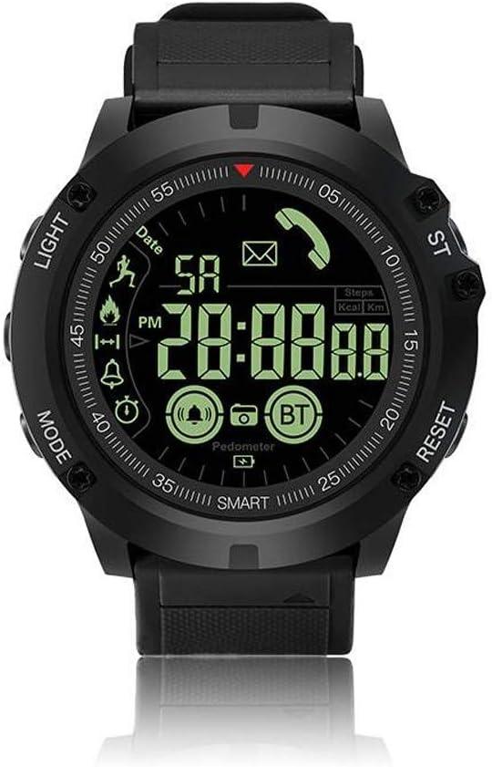 QYLJX Smart Watch Fitness Tracker, Reloj Deportivo Táctico Impermeable Grado Militar Reloj Podómetro Contador de CaloríAs Contador de Recordatorio, con iOS Android para Hombres Mujeres