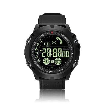 QYLJX Smart Watch Fitness Tracker, Reloj Deportivo Táctico Impermeable Grado Militar Reloj Podómetro Contador de CaloríAs Contador de Recordatorio, ...