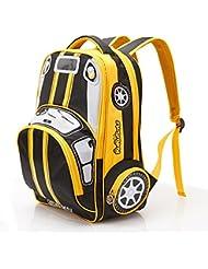 Children Toddler Kids Polyester Fabric 2-4-6th Grade Pupils School Bag Backpack , Car (28*15*41cm)
