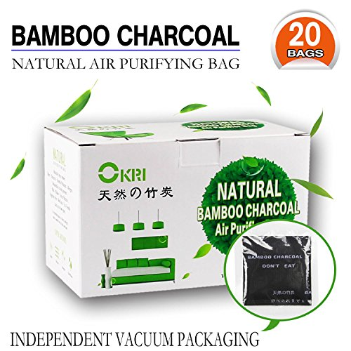 Natural Air Purifier and Diaper Pail Deodorizer Bamboo Carbon Filters/Bamboo Charcoal Filters,Shoe Deodorizer and Odor Eliminator, Set of 20 … (black)