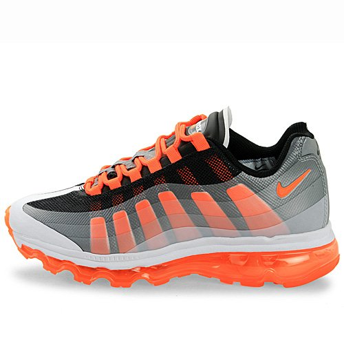 Nike Air Max 95 360 (GS) Boys Running Shoes 512169-007 Black 4 M US