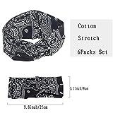 QIMOSHI 6 Packs Headbands for Women Girls Cotton