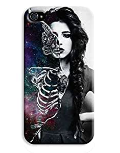 Bare Bones Woman Nebla Girl Indie Hipster Design iPhone 4 4S Hard Case Cover