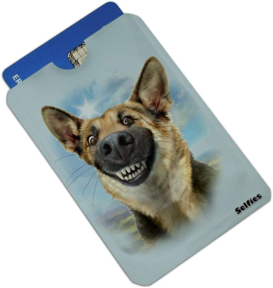 German Shepherd Dog Selfie Credit Card RFID Blocker Holder Protector Wallet Purse Sleeves Set of 4