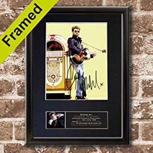 george michael memorial signed autograph mounted photo reproduction black frame 641