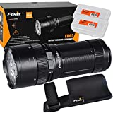 Fenix FD65 3800 Lumens High Performance Focusable Zoomable LED Flashlight with 2x Lumen Tactical Battery Organizers