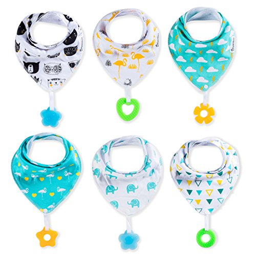 baby-bandana-drool-bibs-6-pack-and-teething-toys-6-pack-made-with-100-organic-cotton-super-absorbent