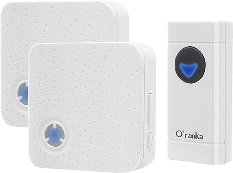 Wireless Door Bell Waterproof 1000ft Range 52 Loud Chimes 4 Level Vol UK