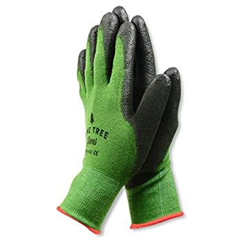 Bamboo Working Gloves for Women & Men. Ultimate Barehand Sensitivity Work Glove for Gardening, Fishing, Construction and Restoration Work & More. Breathable by Nature! Medium - 1 pack Green Pine Tree Tools