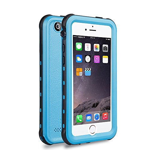 iPhone 5 5S SE Waterproof Case, IP68 Certified Waterproof Shockproof Dirtproof Snowproof Heavy Duty Protective Cover, Full Sealed Case with Built-in Screen Protector for iPhone 5 5S SE (LIGHT BLUE)