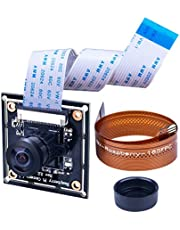 For Raspberry PI Wide Angle 160°Fisheye Lens HD Camera Module, Longruner 5MP RPI Camera Adjustable-Focus Module Drone Webcam LC20