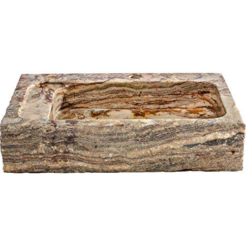 Stone Onyx Bath Sink (Y Decor TORI Golden Silk Onyx Vessel Sink, Tan/Beige/Natural/Orange/Brown, 14