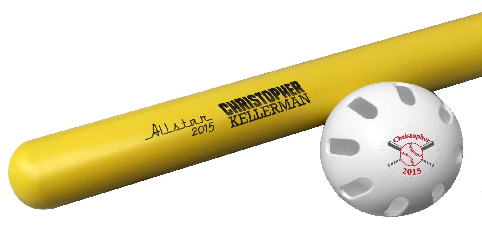 Tiger Tail Sports Personalized Wiffle Bat & Ball Combo Gift (Allstar1 Design) by Tiger Tail Sports